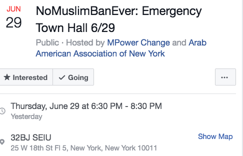 Leftists Hold #NoMuslimBanEver Town Hall