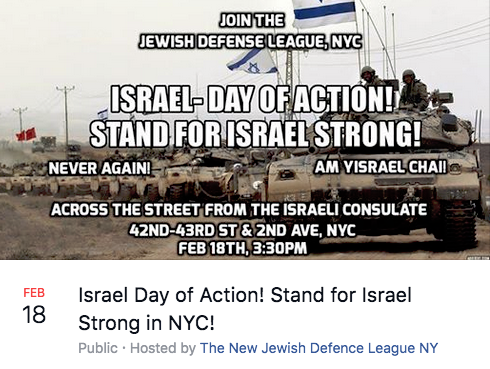 Israel Day of Action (JDL-NY) vs anti-Israel Global Day of